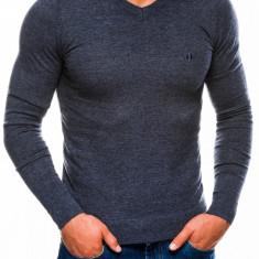 Bluza pentru barbati, din bumbac, bleumarin deschis, casual slim fit - E74