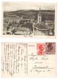 Zalau 1925 - Vedere de sus, biserica, ilustrata circulata