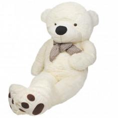 Ursulet de Plus Urias XXL, Inaltime 160cm, Culoare Crem