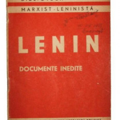 Documente inedite - Lenin