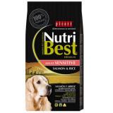 Cumpara ieftin Hrana uscata pentru caini premium cu somon si orez, Adult, Nutribest, 3 kg