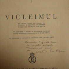CARTEA SATULUI , VICLEIMUL , JOC SFANT CULES DIN POPOR , CU INTREGIRI SI LAMURIRI DE PUNERE IN SCENA DE VICTOR ION POPA , CONTINE DEDICATIA AUTORULU