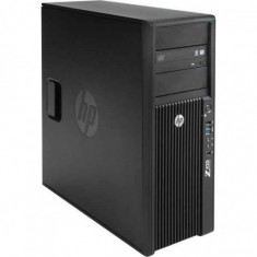 Workstation HP Z420 Tower, Intel Quad Core Xeon E5-1603 2.8 GHz, 8 GB DDR3 ECC, 500 GB HDD SATA, DVDRW, Placa Video nVIDIA NVS 300, Windows 10 Home, 3