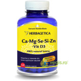 Complex Forte (Ca+Mg+Se+Si+Zn) Cu Vitamina D3 2000UI 120Cps