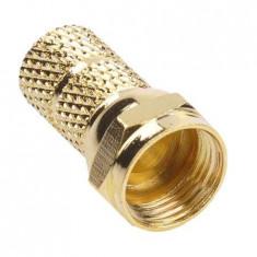 Mufa f 6.8mm gold cu set 100 buc