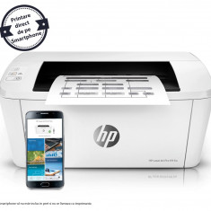 Imprimanta HP LaserJet Pro M15w monocrom, Wireless, format A4, print smartphone