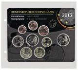 Folie extra groasa pentru set de monede euro 1 euro cent 2 euro cu dimensiuni de 145 x 140