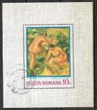 România - 1974 - LP 840 - Reproduceri de artă - coliță dantelată ștampilată, Stampilat