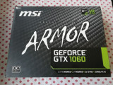 Placa video MSI GeForce GTX 1060 Armor 3GB GDDR5 192-bit., PCI Express, 3 GB, nVidia