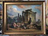 14 Ruine Romane tablou peisaj cu ruine reproducere celebra pictura ulei 91x73 cm