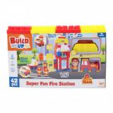 Set de construit Statie de pompieri Happy Line, 42 Piese