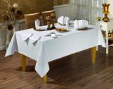 Față de masă Valentini Bianco, Model Honey, 160×220 cm, culoare Alb