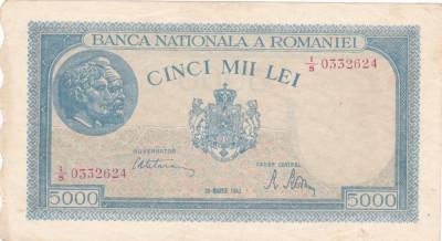 ROMANIA 5000 LEI MARTIE 1945 F foto