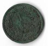 Moneda 1 kreuzer 1862 E, Baia Mare, patina - Austria, cotatii ridicate!