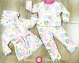 Pijama cocolino flori multicolore