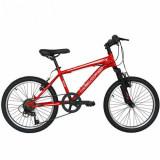 Bicicleta Copii MTB VELORS 2010A, roti 20inch, cadru otel 16inch (Rosu)
