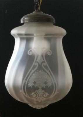 Lampa Glob Art Nouveau, original foto