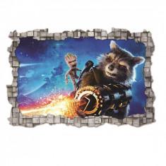 Sticker 3D perete, 60x90cm, guardians of galaxy