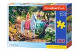 Cumpara ieftin Puzzle Printesa pe Unicorn, 100 piese