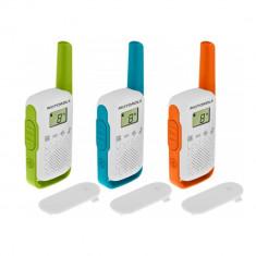 Resigilat : Statie radio PMR portabila Motorola TALKABOUT T42 TRIPLE PACK set cu 3