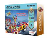 Joc de constructie magnetic - 72 piese, MAGPLAYER