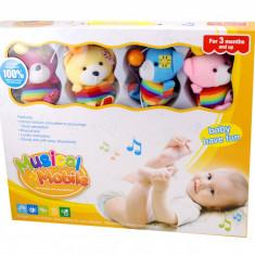 Carusel muzical pentru bebelusi cu ursuleti din plus - 6014