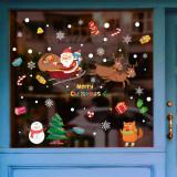 Cumpara ieftin Sticker decorativ Craciun pentru perete si fereastra Giftify Sania lui Mos Craciun