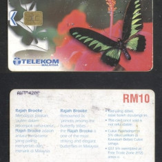 Malaysia - Telephone card Butterflies CT.008