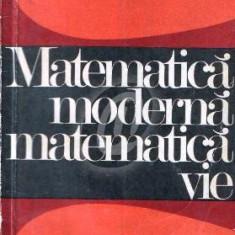Matematica moderna, matematica vie