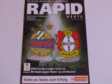 Program meci fotbal RAPID VIENA-BAYER 04 LEVERKUSEN(Europa League 25.10.2012)