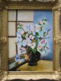 Tablou vaza cu flori semnat Cimpoesu