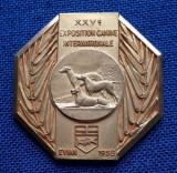 Placheta tema canina - Expozitia internationala 1858 - medalie