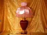 Veioza lux Bourgeois Parisisen portelan grena, auriu, colectie vintage