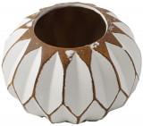 Vaza ceramica sferica alba
