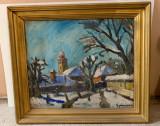 Tablou autentic Gyimesi Kovacs Gabor, Peisaje, Ulei, Impresionism