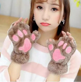 Manusi pisica neko chan cosplay cat anime otaku pufoase - maro