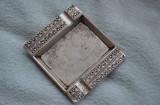 Scrumiera veche anii 1950 /Scrumiera veche metal argintat /traditional