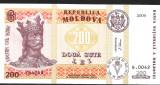 !!! MOLDOVA - 200 LEI 2009 - P 16 c - UNC- / CEA DIN SCAN