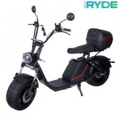 Moped electric Ryde 3.0 , Viteza maxima 45km/h, Autonomie 60 km, Putere motor 1500W (Negru)