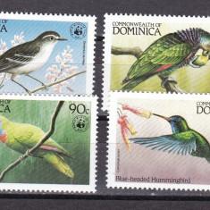 Dominica  1984  fauna  WWF  MI  836-839  MNH  w61