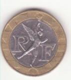 Franța 10 franci 1990 -F# 375, Schön# 259, KM# 964.1, Gad# 827, Europa