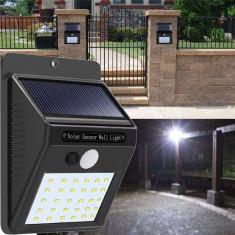 Lampa cu incarcare solara si senzor de miscare 30 LED foto