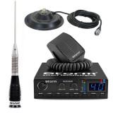 Statie radio CB Storm Defender (versiunea PRO) cu antena Megawat ML 100 si baza magnetica