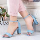 Sandale Barro albastre cu toc gros -rl