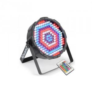 Beamz FlatPAR LED de 186 x 10 mm, reflector PAR, RGBW, LED-uri, telecomandă, DMX, IR