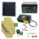 Gard electric cu Panou solar 3,1J putere cu 8000m Fir 160Kg cu acumulator 12Ah