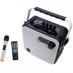 Boxa portabila akai abts-t5 cu bluetooth si microfon wireless outputpower:30w compatibila cu mp3 mp4 dvd