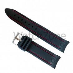 Curea silicon 22mm cu capete curbate WZ946