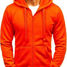 Bluză cu glugă pentru bărbat portocaliu Bolf AK50A