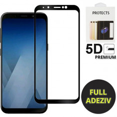Folie sticla tempered glass nytroGel Samsung Galaxy J4 Plus, J6 Plus Full Glue 5D Black